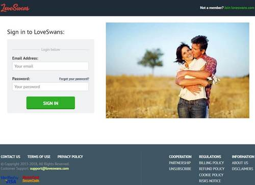 LoveSwans Dating Site SignUp